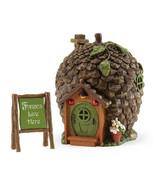 Fairy Garden Gnome, Hobbit Fairies -Enchanted Guardian Pine Cone House w... - £33.19 GBP