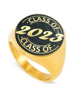 Signet Class Rings for the Class of 2023 Chalkboard Men's Gold - $59.99