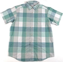 Men's Shirt Columbia SS Thompson Hill Yarn Dye Button-Down Woven Gemstone Plaid