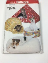 Butterick Cozy Critters Sewing Pattern Uncut 5903 Pet Beds Cat Dog - $8.49