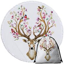 Floral Deer Beach Towel - $12.32+