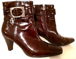 ETIENNE AIGNER 70073-1 Vincent - Chocolate Brown Ankle Boots Women's Siz... - $147.11