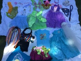 Halloween Disney Princess Dress Up Lot Pretend Play 7/8 10/12 - $37.38