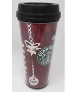 Starbucks Mug Holiday 2009 Red Love Wish Hope Tumbler Grande 16oz Travel... - $13.28