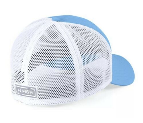 Under Armour Fish Hunter Trucker Hat in Carolina Blue Stretch Fit OSFA M/L image 2