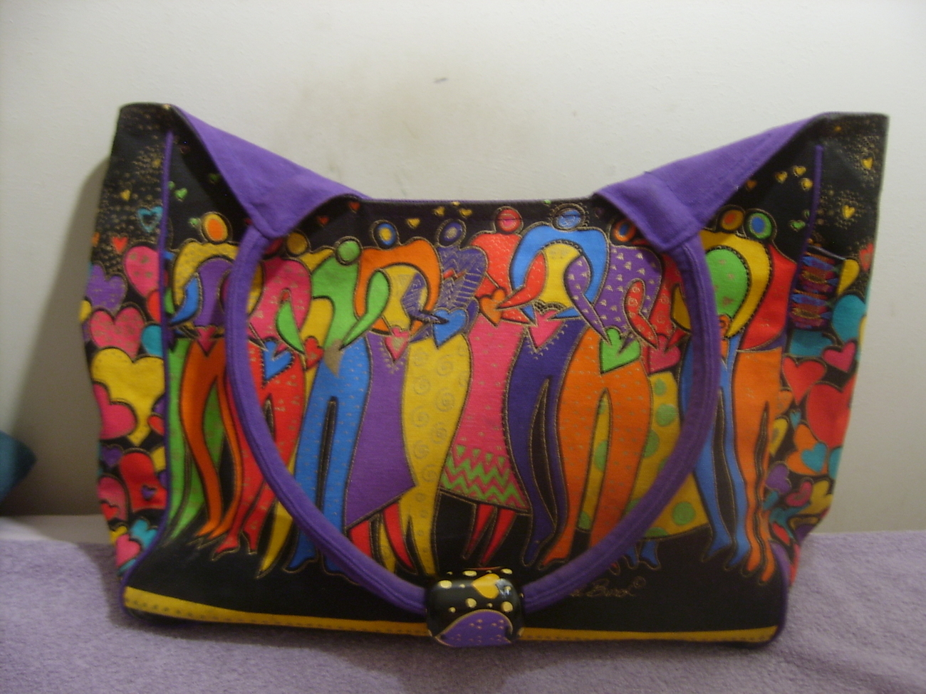 LAUREL BURCH FRIENDSHIP TOTE CANVAS COLOR FUL.