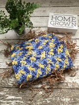 Dishcloth Set Handmade Kitchen Crochet Dish Cloths Blue Yellow Crochet W... - $18.75