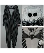 Disney Nightmare Before Christmas Jack Skellington One Piece Pajamas L NWT - $51.88