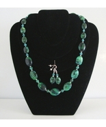 Chrysocolla Necklace and Earrings - $34.00
