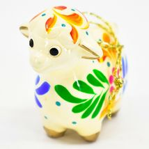 Handcrafted Painted Ceramic Sheep Lamb Confetti Series Ornament Made in Peru image 3
