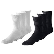 108 Pairs PriceMeNow Men's or Women's Classic & Athletic Crew Socks - Wh... - $94.05