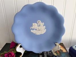 Wedgwood Blue Jasperware Bowl 1970s Blue White Aurora And Chariot Of Daw... - $22.00