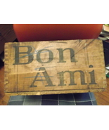 Bon Ami Cleanser Dovetail Wooden Box with Ad - $175.00
