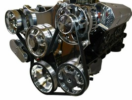 Small Block Chevy Serpentine Front Drive System Complete Kit Chrome image 2
