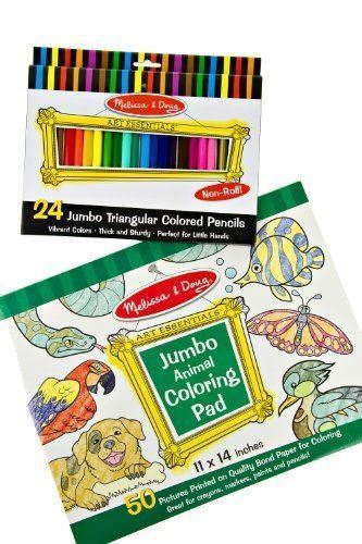 Melissa & Doug Jumbo Triangular Crayons, and 10 similar items