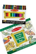 Melissa & Doug Jumbo Triangular Crayons, Coloring Book+FREE Mini Scratch... - $24.70