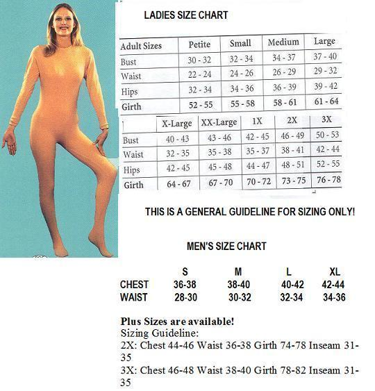ADULT UNITARD XLG LADIES NUDE FULL BODY SUIT
