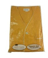 Diplomat Pajamas Short Sleeve Knee Length XL Gold Vintage NOS MCM Perm Press - $62.36