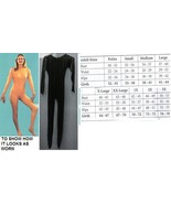 ADULT UNITARD LADIES LG BLACK FULL BODY SUIT - $60.00