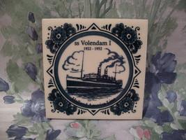 Delft Blue Holland America Line SS Volendam I Ship Tile  - $9.99