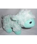 Mint Green Lamb Sheep Swirl Fur Plush Stuffed Animal Easter Toy Inter-Am... - $15.82