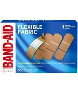 """Band-Aid Flexible Fabric Adhesive Bandages, 1 x 3"""" 100 Bandages - Pack of 3 - $29.99"""