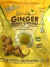 1/2/4 Bags, Prince of Peace Lemon Ginger Honey Crystals 19 Oz/540g 30 Sachets - $15.83+