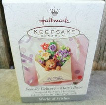 Hallmark Friendly Delivery Mary Hamilton Bears Friendship Flowers Bloom ... - $12.99