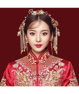 New Chinese Traditional Wedding Hairpins Hair sti Hair Comb set for Brid... - $34.59
