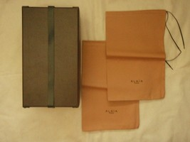 Alai shoe box and dust bags from sandals empty - $23.16