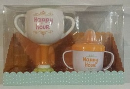Hallmark Grandma and Baby Cup Set Happy Hour Christmas Party Holiday Gift NEW - $29.49