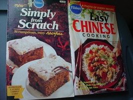 PILLSBURY EASY CHINESE & SIMPLY FROM SCRATCH COOKBOOKS LOT OF 2 FREE USA... - $9.49