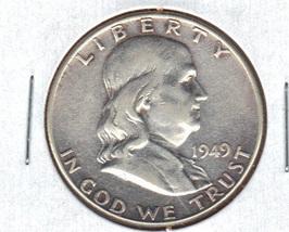 Nice 1949P Franklin Silver Half Dollar image 1