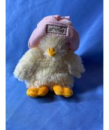 Bunnies By The Bay Little White Emmie Duck With Hat Easter Plush Animal Toy - $21.99