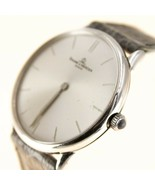 Baume Mercier 18k White Gold Mens Watch Automatic Leather Sapphire crystal - $1,710.54