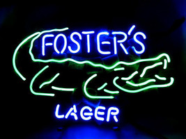 "New FOSTER'S Lager Alligator Beer Bar Pub Neon Light Sign 18""x16"" [High ... - $129.00"