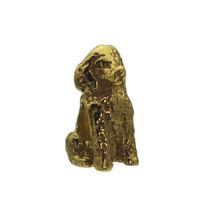 Poodle Dog puppy Charm European bead jewelry 24K Gold Plated on Sterling silver - $23.36