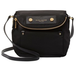 NWT Marc Jacobs Preppy Mini Natasha Small Nylon Crossbody bag BLACK AUTH... - $159.90