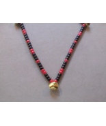 THE GAMBLER ~ HORSE RHYTHM BEADS ~ Black, Red ~ Size 54 Inches - $17.00