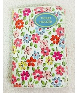 NWT Cath Kidston Floral Ticket Card Holder Stunning Floral w White Backg... - $22.28