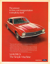 Vintage 1971 Magazine Ad Ford Maverick The Simple Machine Low Cost Travel - $5.93