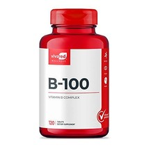 VivaRed, B-100, B Vitamin Complex, Blend of 8 B Vitamins, 120 Count, Non-GMO, Ma