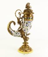 Cornucopia Vintage Porcelain with 100% Bronze horn of plenty Wedding * F... - $499.00