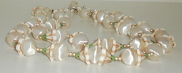 Double Strand Lucite & Celluloid Bead Japan Necklace  - $9.95