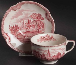 Johnson Brothers Old Britain Castles Pink (Made In England) Cup & Saucer 7 Sets - $65.06