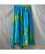 New Mamta blue and green handkerchief hem skirt from India - $11.25