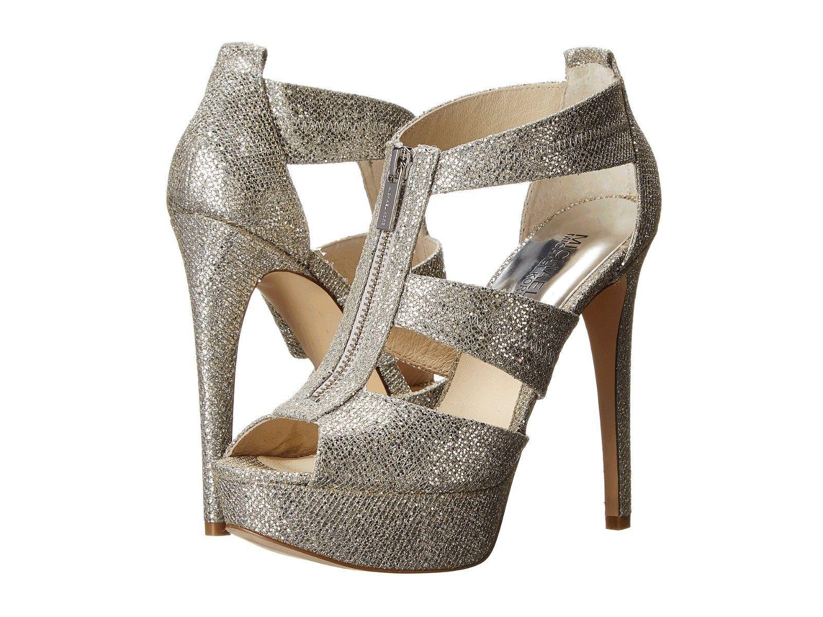 ee9e7237c771 S l1600. S l1600. Previous. MICHAEL Michael Kors Berkley Platform Silver  Glitter Women Size 8.5 ...