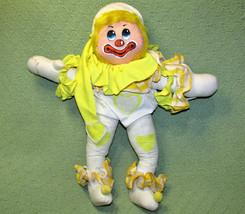 """18"""" Vintage Annette Little Enesco Lovey Clown 1978 Yellow Stuffed Wired Doll - $24.75"""