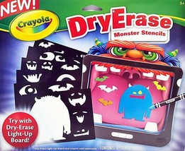 NEW Crayola Dry Erase (DryErase) Monster Stencils - $9.49