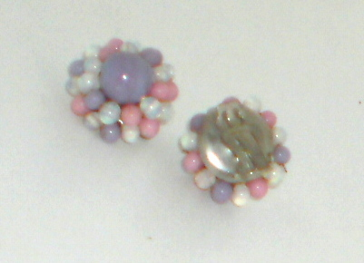 Japan En esclavage 5 Strand Glass Bead Necklace & Matching Earrings